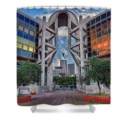 Tel Aviv Performing Arts Center Shower Curtain by Ronsho