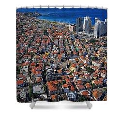 Tel Aviv - The First Neighboorhoods Shower Curtain by Ron Shoshani