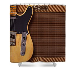 Telecaster Deluxe Shower Curtain