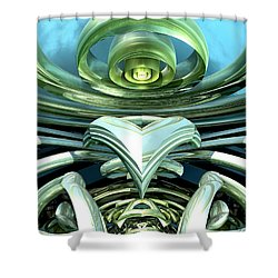 Telecoil Shower Curtain by Kevin Trow