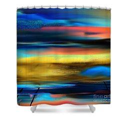 Shower Curtain featuring the digital art Tell Me Tomorrow  by Yul Olaivar