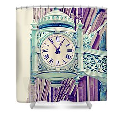 Telling Time Shower Curtain