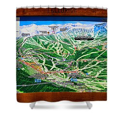 Telluride Ski Map Detail  Shower Curtain