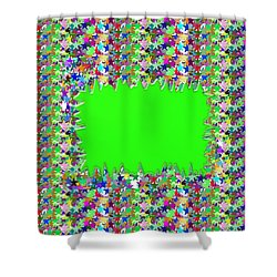 Shower Curtain featuring the photograph Template Art Star Sparkle And Empty Box To Add Your Image Or Text by Navin Joshi