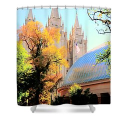 Temple And Tabernacle Shower Curtain by Kathleen Struckle