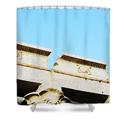 Shower Curtain featuring the photograph Temple At Luxor by Cassandra Buckley