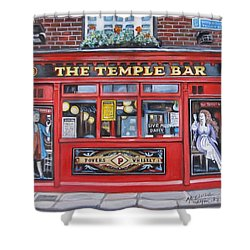 Temple Bar Dublin Ireland Shower Curtain by Melinda Saminski