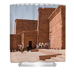 Temple Building Shower Curtain by James Gay