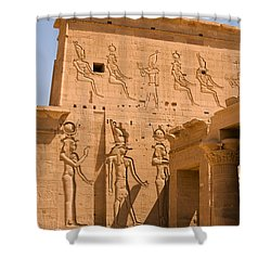 Temple Exterior Shower Curtain by James Gay