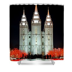 Temple Lights Shower Curtain