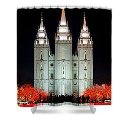 Temple Lights Shower Curtain by Dustin  LeFevre