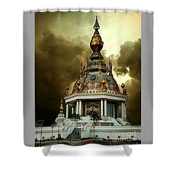 Temple Of Clouds  Shower Curtain