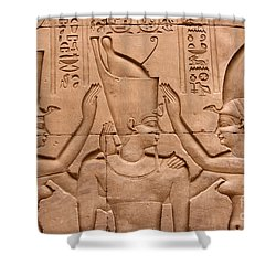 Temple Of Horus Relief Shower Curtain by Stephen & Donna O'Meara