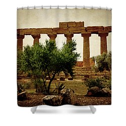 Temple Of Juno Lacinia In Agrigento Shower Curtain