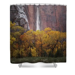 Temple Of Sinewava 1 Shower Curtain by Susan Rovira