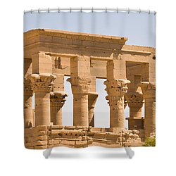 Temple Out Building Shower Curtain by James Gay