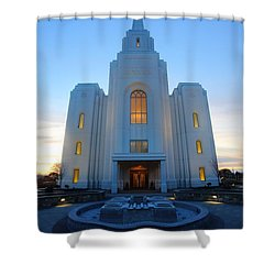 Temple Work Shower Curtain