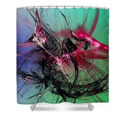 Temporal Information Retrieval Shower Curtain by Jeff Iverson