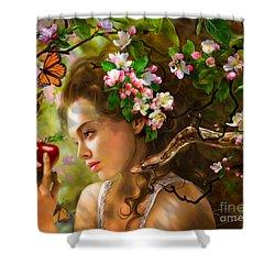 Temptation Of Eve Shower Curtain by Drazenka Kimpel