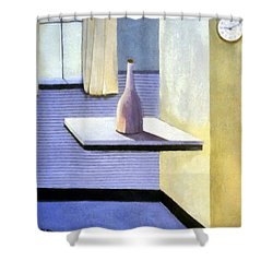 Ten After Nine Shower Curtain by Michelle Calkins