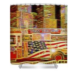 Ten Truck Shower Curtain