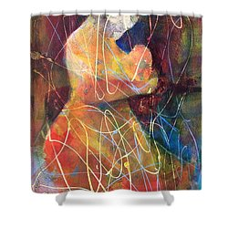 Tender Moment Shower Curtain by Marilyn Jacobson