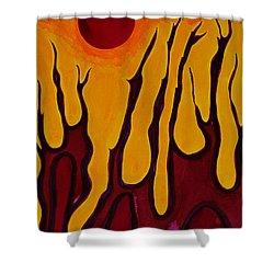 Tendrils Original Painting Shower Curtain
