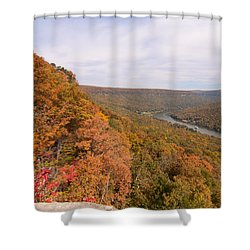Shower Curtain featuring the photograph Tennessee Riverboat Fall by Paul Rebmann