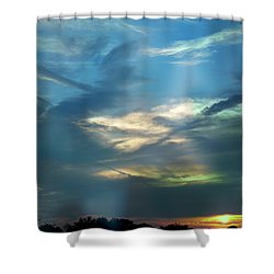 Tennessee Sunset Shower Curtain by EricaMaxine  Price