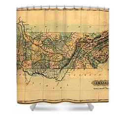 Tennessee Vintage Antique Map Shower Curtain by World Art Prints And Designs