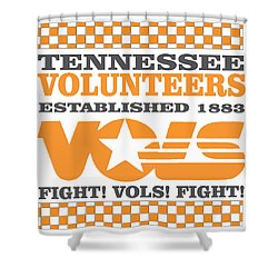 Tennessee Volunteers Fight Shower Curtain