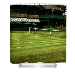 Tennis Hall Of Fame 2.0 Shower Curtain by Michelle Calkins