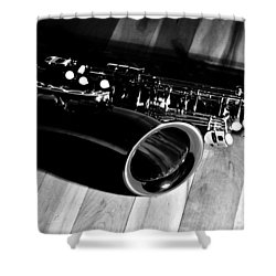 Tenor Sax Shower Curtain by Benjamin Yeager