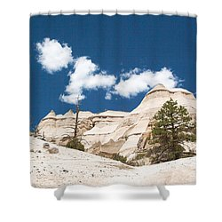 High Noon At Tent Rocks Shower Curtain