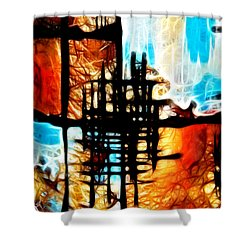 Tequila Sunrise Shower Curtain by Mariola Bitner