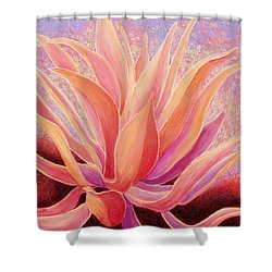 Shower Curtain featuring the painting Tequila Sunrise by Sandi Whetzel