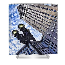 Shower Curtain featuring the photograph Terminal Tower - Cleveland Ohio - 1 by Mark Madere
