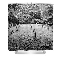Terpenning Cemetery B And W Shower Curtain