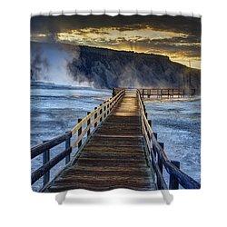 Terrace Boardwalk Shower Curtain