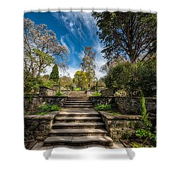 Terrace Garden Shower Curtain by Adrian Evans