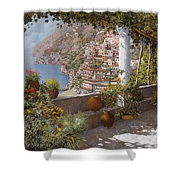 terrazza a Positano Shower Curtain
