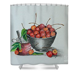 Terri's Cherries Shower Curtain
