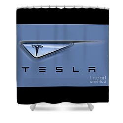 Tesla Model S Shower Curtain by David Millenheft