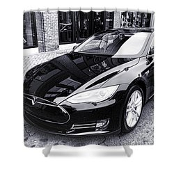 Tesla Model S Shower Curtain