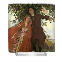 Tess Of The D'urbervilles Or The Elopement Shower Curtain by William Hatherell
