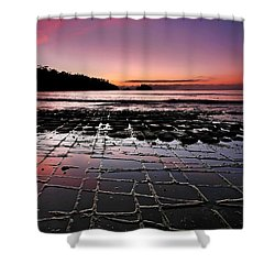 Tesselated Pavement Sunrise Shower Curtain by Bill  Robinson