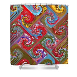 Tessellation Shower Curtain by Mariarosa Rockefeller