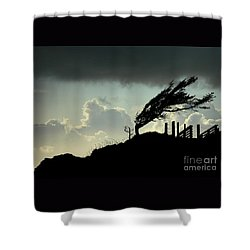 Shower Curtain featuring the photograph  The Test Of Time by Nick  Boren