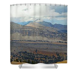 Teton Canyon Shelf Shower Curtain by Raymond Salani III