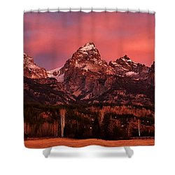 Shower Curtain featuring the photograph Teton Color by Benjamin Yeager
